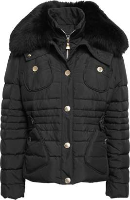 Moschino Shearling-trimmed Quilted Shell Down Jacket