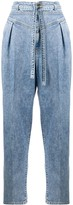 Pinko high-waist belted jeans