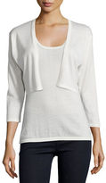 Neiman Marcus Modern Superfine Silk-Blend Shrug