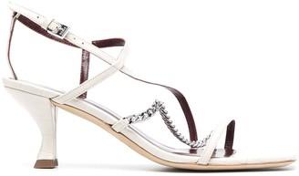 STAUD Chain-Link Strap Sandals