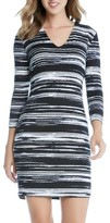 Karen Kane Women's Stripe Jersey Sheath Dress