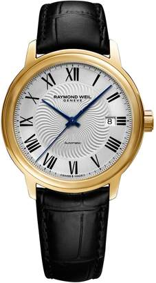 Raymond Weil Analog Maestro Leather Watch