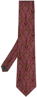 Gianfranco Ferré Pre Owned 1990 Peacock Print Tie