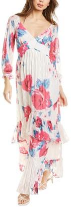 Rococo Sand Lurex Dobby Maxi Dress