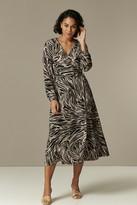 Wallis **TALL Neutral Marble Wrap Midi Dress