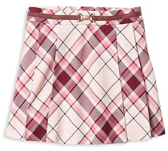 Janie and Jack Baby's, Little Girl's & Girl's Pleated Plaid Cotton Skirt