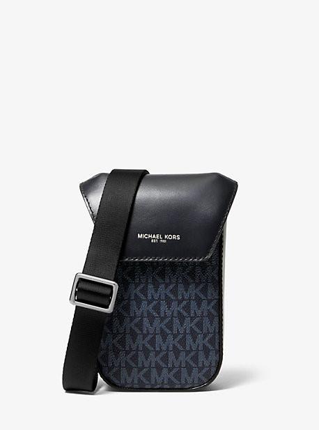 Michael Kors Greyson Logo Smartphone Crossbody Bag - Admrl/plblue