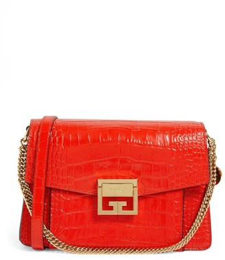Givenchy Small Embossed Leather GV3 Shoulder Bag