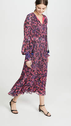 Derek Lam 10 Crosby Nemea Pleated Maxi Dress with Smocking Detail