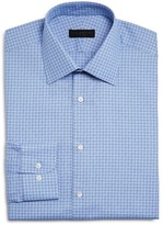 Ike Behar Textured Dobby Small Check Regular Fit Dress Shirt
