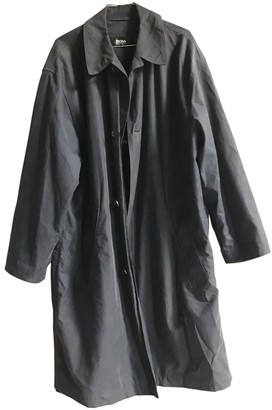 HUGO BOSS Blue Cotton Trench Coat for Women