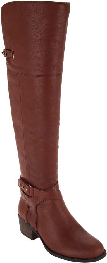 Vince Camuto Leather Wide Calf Tall ShaftBoots - Bestant