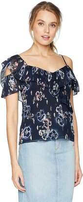 Rebecca Taylor Women's Sleeveless Faded Floral Top