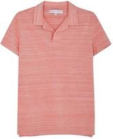 Orlebar Brown Felix Red Piqué Cotton Polo Shirt
