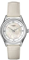 Timex Mother of Pearl Dial Leather Strap Watch, 36mm