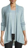 Eileen Fisher Fine Tencel® Ribbed Open Cardigan, Plus Size