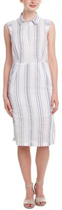 Olive + Oak Olive & Oak Women's Collared Stripe Midi Dress