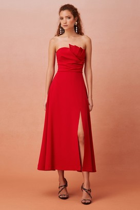 Keepsake EVERYWHERE MIDI DRESS Scarlet