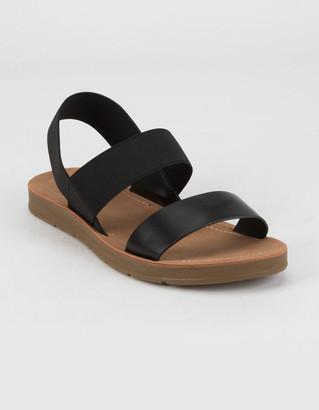 Soda Sunglasses Elastic Ankle Strap Womens Sandals