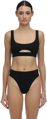 Bond Eye Sasha Seersucker Bikini Top