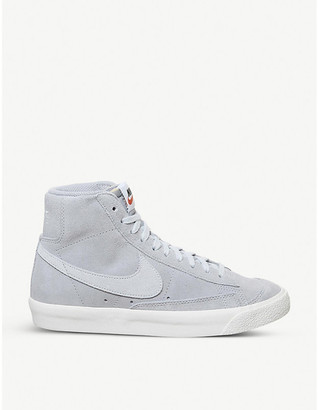 Nike Blazer 77 brand-patch suede high-top trainers