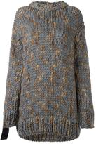 No.21 embellished sleeves jumper - women - Wool/Acrylic/Cotton/metal - 40
