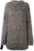 No.21 embellished sleeves jumper