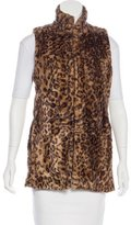 Alice + Olivia Collared Leopard Print Vest