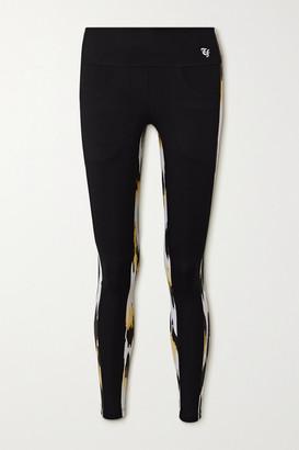 Twin Fantasy Paneled Animal-print Stretch Leggings - Black