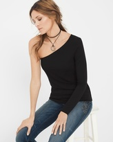 White House Black Market One-Shoulder Top