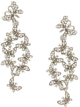 Oscar de la Renta Butterfly Cluster crystal-embellished earrings