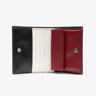 Lacoste Women's Chantaco Nud Small Pique Leather Snap Coin Pouch