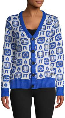 American Stitch Printed Button-Front Cardigan