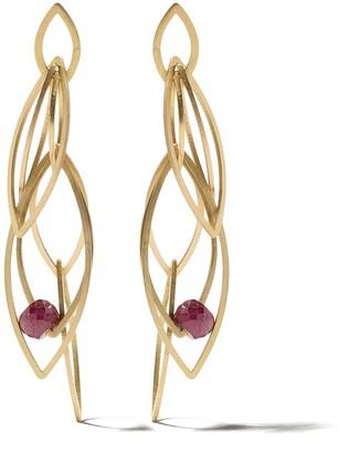 Lia Di Gregorio 18kt Yellow Gold Layered Amethyst Earrings