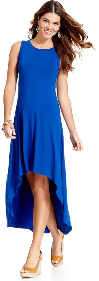 Karen Kane Dress, Sleeveless High-Low Hem Maxi