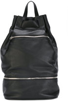 Orciani multi-zip backpack - men - Leather - One Size