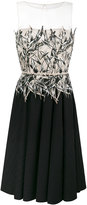 Blumarine pleated trim contrast dress
