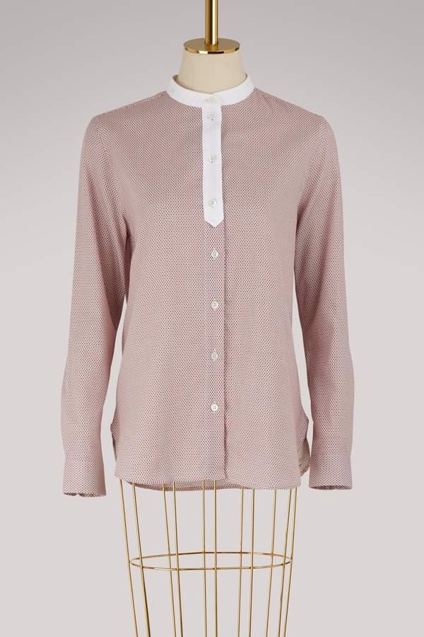 MAISON KITSUNÉ Thea Mandarin cotton shirt