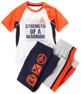 Reebok Boys 4-7) 3-Piece Graphic Tee & Sweatpants Set