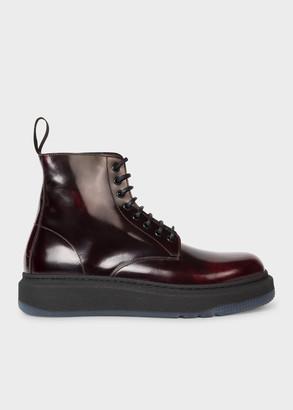 Men's Burgundy Leather 'Renzo' Boots