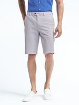 "Banana Republic Emerson Straight Seersucker Stripe 11"" Short"