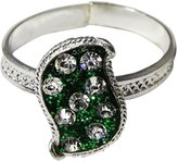 Ghoomar Indian Bridal Foot Ring Traditional Silver Tone Toe Rings Wedding Jewelry