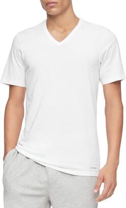 Calvin Klein 3-Pack Slim Fit Cotton V-Neck T-Shirt
