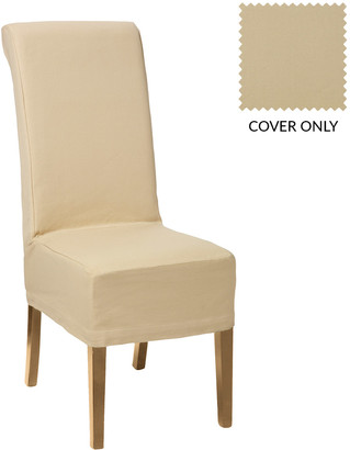 OKA Cotton Slip Cover for Echo Dining Chair - Oatmeal