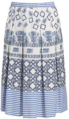Marina Rinaldi, Plus Size Marina Sport Campania Poplin Skirt