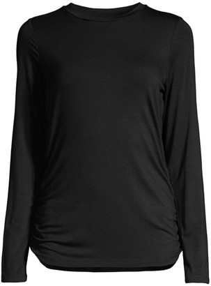 Donna Karan Side Ruched Jersey T-Shirt