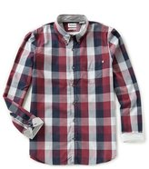 Timberland Back River Brushed Oxford Check Long-Sleeve Woven Shirt