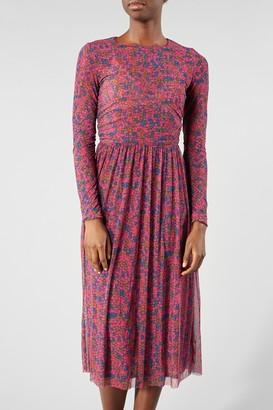 Samsoe & Samsoe Pink Floral Vivi Dress - SMALL