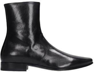 Pierre Hardy Carryover Boot Ankle Boots In Black Leather