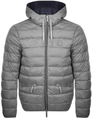 Armani Exchange Hooded Down Jacket Grey